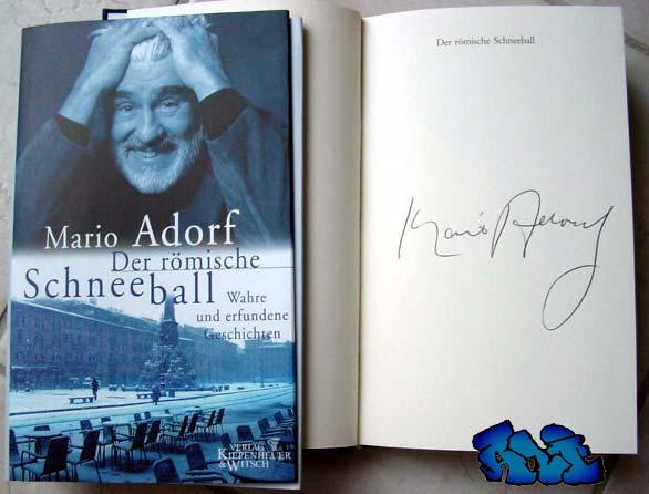 Signatur Mario Adorf