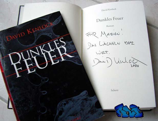 Signatur/Jahresangabe und Widmung (Für Marion! Das Lächeln der Welt) David Kenlock (2000)