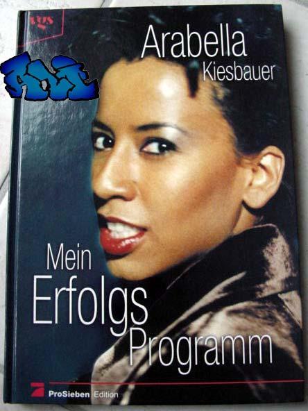 Signatur und unpersönliche Widmung Arabella Kiesbauer
