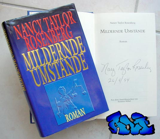 Signatur und Datum (26/9/94) Nancy Taylor Rosenberg