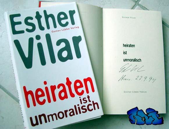 Signatur und Ort/Datum (Han. 27.9.94) Esther Vilar