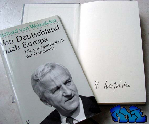 Signatur Richard von Weizsäcker Deutschland